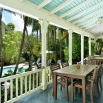 Porch at this luxury key west vacation rental