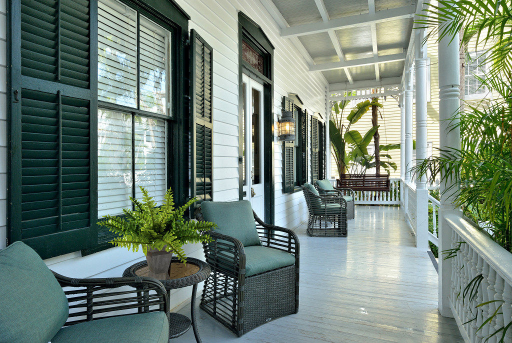 front view of key west vacation home
