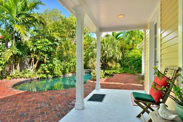 vacation rental property entrance