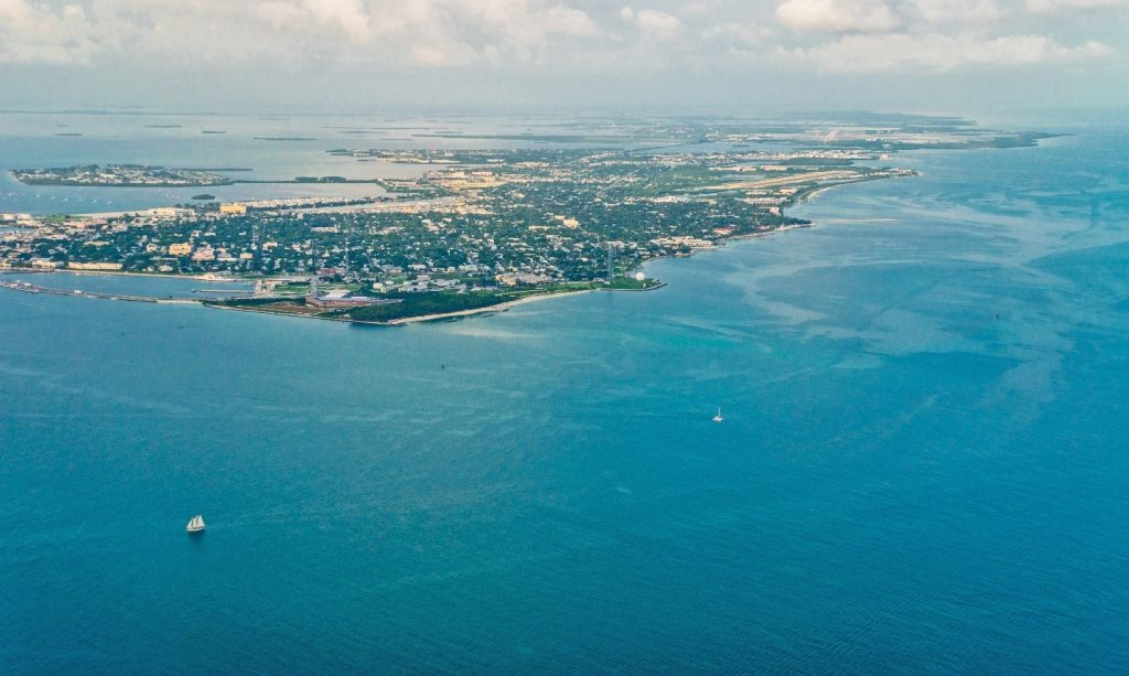 Key West is a tiny island 2 X 4 miles - 150 miles out to sea
