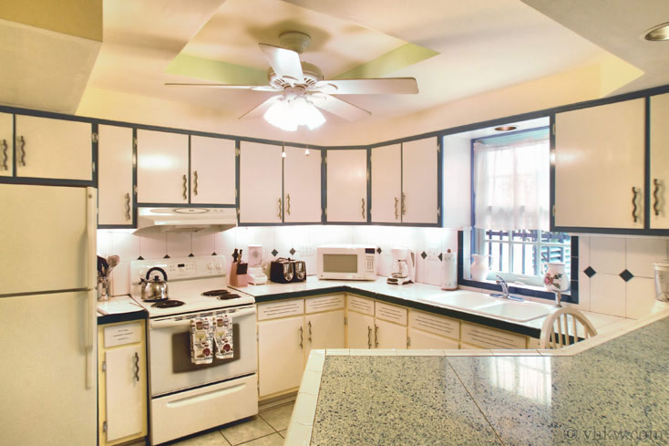 Fully equipped kitchen at Amelia's Hideaway Vacation Rental make cooking fun and easy for Thanksgiving 2020