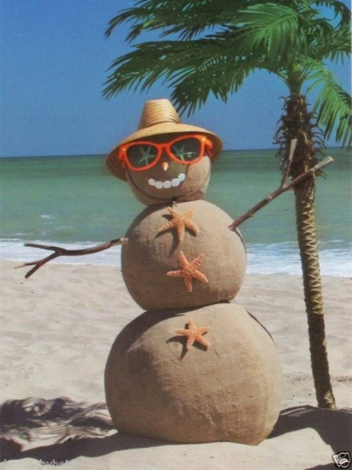 Christmas in Key West sandman with sunglasses
